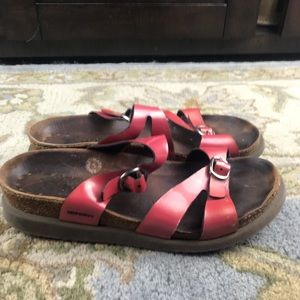 Mephisto Hannel Pink Patent Leather Sandals Sz 38